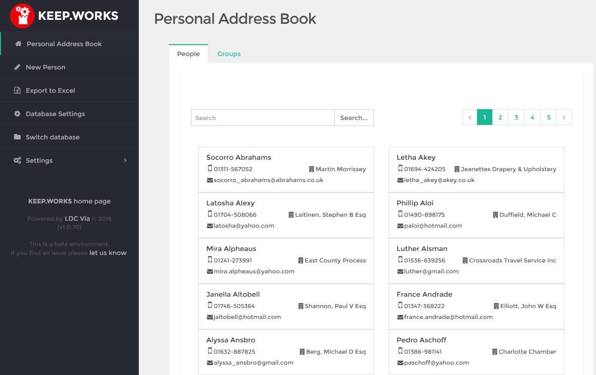 personal address book ldc via